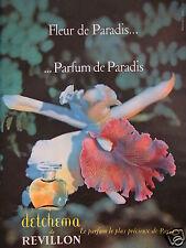 PUBLICITÉ 1960 DETCHEMA DE REVILLON PARFUM PRÉCIEUX DE PARIS - ADVERTISING