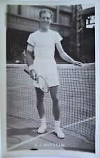 MOTTRAM TONY 1950's ORIGINAL PHOTOGRAPHIC TENNIS POSTCARD