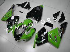 For KAWASAKI ZX10R 2004 2005 ABS Injection Mold Bodywork Fairing Kit Green Black