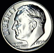 1954 GEM PROOF Roosevelt Silver Dime Coin FLASHY MIRRORS w/     NO RESERVE