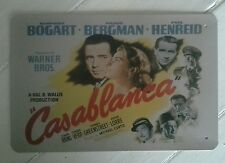 Casablanca Iconic Cinema Movie Poster Metal Retro Wall Plaque/Sign-Cool Gift