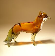 Blown Glass Figurine Art Wild Animal Brown FOX