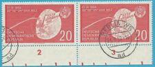 DDR aus 1959 gestempelt MiNr.721 Zweierpaar mit Unterrand - Lunik 2!