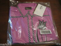 New Bob Mackie wearable art Pink top Blouse with embroidered tulip flower Medium