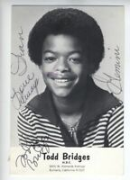 TODD BRIDGES 1981 CHILD ACTOR AUTOGRAPH POSTCARD Diff'rent Strokes VERY EARLY