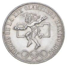 SILVER - WORLD COIN - 1968 Mexico 25 Pesos - World Silver Coin *951
