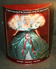 1995 Happy Holidays BARBIE by Mattel - Green Holly Dress - In Box