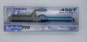"Babyliss Pro Nano Titanium 1 1/2"" Spring Curling Iron"