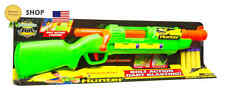 Nerf BB Gun N-Strike Rifle Buzz Bee Toys Hunter Blaster Green Shotgun, NEW