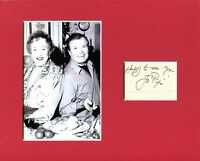 Jacques Pepin Famous French Chef Signed Autograph Photo Display W/ Julia Child