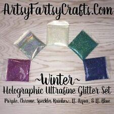 "Winter ~ Holographic Ultrafine Glitter Set 1/128"" .008"""