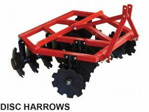 Disc Harrow Millers Falls 6ft 1800mm Tractor 20 Discs Plough