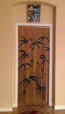 Bamboo Beaded Door Curtain Strands Decorative Panel Drape Doorway Window Divider