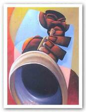 AFRICAN AMERICAN ART PRINT Mo Trumpet by Maurice Evans
