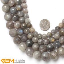 "Natural Faceted Round Labradorite Gemstone Beads Jewellery Making Strand 15"" AU"