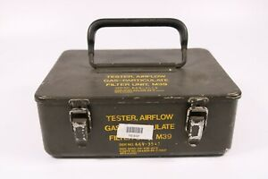 NOS 1980's GI US Military M39 Airflow Gas-Particulate Filter Unit Tester Gas Mas