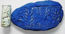 ZURQIEH - cy3- ANCIENT CANAANITE FAIENCE CYLINDER SEAL. 1700 - 1550 B.C
