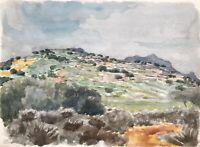 Karl Adser 1912-1995 Frühlingstag Bergige Landschaft Kreta Griechenland 1972