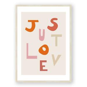 Love Letters Framed Print , Romantic Wall Art , Pink Bedroom Decor, Gift For Her