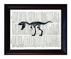 Tyrannosaurus Rex Skeleton - Dictionary Art Print Printed On Authentic Vintage