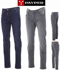 jeans da lavoro  Pantaloni Uomo  Denim Elasticizzati Multitasche Payper