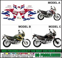 kit adesivi stickers compatibili xrv 750 rd 07 africa twin 1998