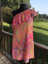 32db60d360c7fb Women's XS LILLY PULITZER Emmeline Bright Sun Splashed 1-Shoulder Dress NWT  $168