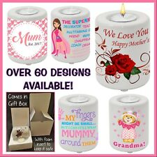 Personalised Mother's Day Tea Candle Holder, Gift Idea - Mum, Grandma - Any Text