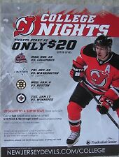 Zach Parise NJ Devils Ticket Ad Color Photo Prudential Center Great Display Mint