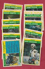 1982-83 OPC LA KINGS  EX-MT CARD LOT