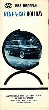1965 European Rent-A-Car Holiday AAA Automobile Club of New York Vintage Booklet