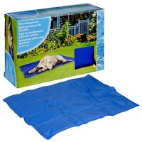 Pet Self Cooling Gel Mat Summer Heat Dog Cat Resting 50 x 40cm Portable Pad Bed