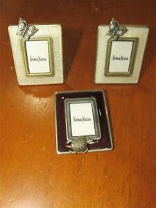 """3 Jay Strongwater / Neiman Marcus 1"""" Enamel Clip-On Picture Frames"""
