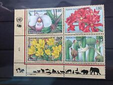 United Nations 1996 Geneva Endangered Species (4th series) SG G290 - G293 Block