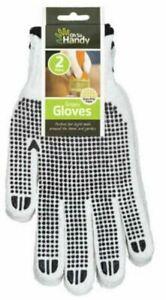 6 pair of  Garden/work Grippy   Gloves Standard Size Get A Grip On Your Jobs
