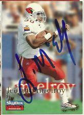 1996 Skybox LEELAND MCELROY Signed Card Lambeau Field CARDINALS texas a&m