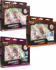 Colección de Pokemon Champion's Path Pin Set 2 de todos 3 ballonlea, Spikemuth, Hamerl