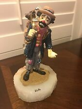 Emmett kelly Ron Lee Signed statue circa 1980s