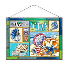 JOAN BAKER GLASS SUNCATCHER/ ART PANEL - OCEAN SHELLS (AP128)