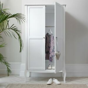 Camille Wardrobe in White Shabby Chic French Style Armoire