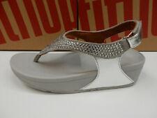 FitFlop Womens Skylar Crystal Toe Thong Silver 7
