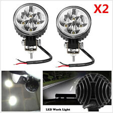 2Pcs Round 12W 6000K Xenon White Car Off-Road LED Work Lights Spot Fog DRL Lamps