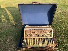 More details for vintage pietro piano accordian in mother of pearl - good working order