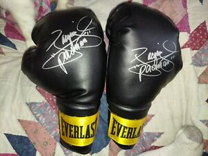 Manny Pacquiao Signed Autograph Everlast Boxing Gloves