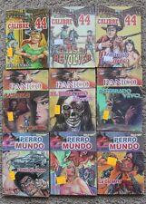 CALIBRE 44, PANICO, PERRO MUNDO, LOT OF 9, MEXICAN COMIC COMO LIBRO VAQUERO