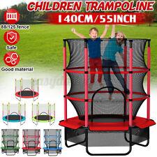 300KG Kinder Trampolin mit Sicherheitsnetz Indoor Jumper Fun Fitness Ø 140cm *