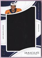 COURTLAND SUTTON RC 2018 IMMACULATE COLLECTION ROOKIE PLAYER CAPS HAT #13/15