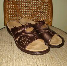 Clarks Sandals Shoes BrownBronze Size 6M Leather Slides