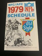 NFL 1979 National Football League NFC/AFC Schedule - Old Style