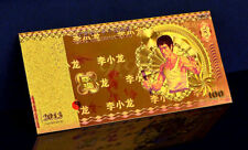 "SPECIAL BRUCE LEE : BILLET POLYMER  "" OR "" 100 YUAN 2013"